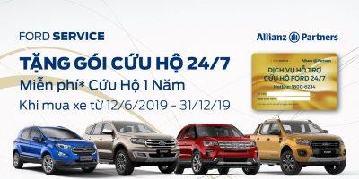 Tặng ngay Gói Cứu hộ Ford 24/7 miễn phí cho khách mua xe tại Ford Bình Dương